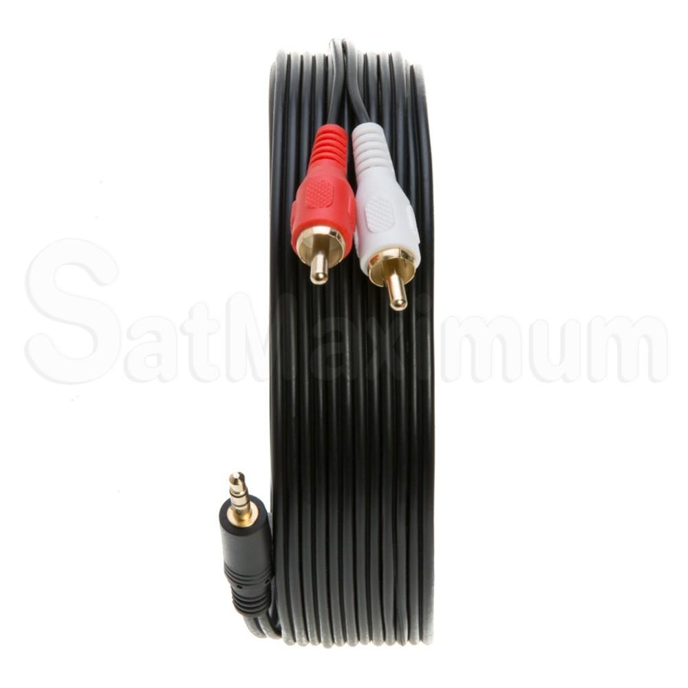 3.5mm AUDIO CABLE AUX Male 3.5mm to 2RCA Stereo 3FT 6FT 10FT 25FT 50FT 100FT LOT