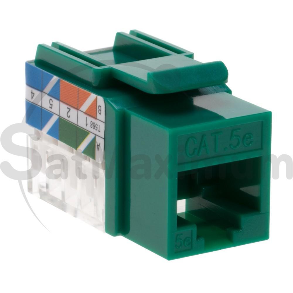 Cat5e Cat6 Keystone Jack Ethernet Rj45 110 Punchdown 8p8c 45 Degree Cat 5 Wiring Diagram Wall Prise Cat5
