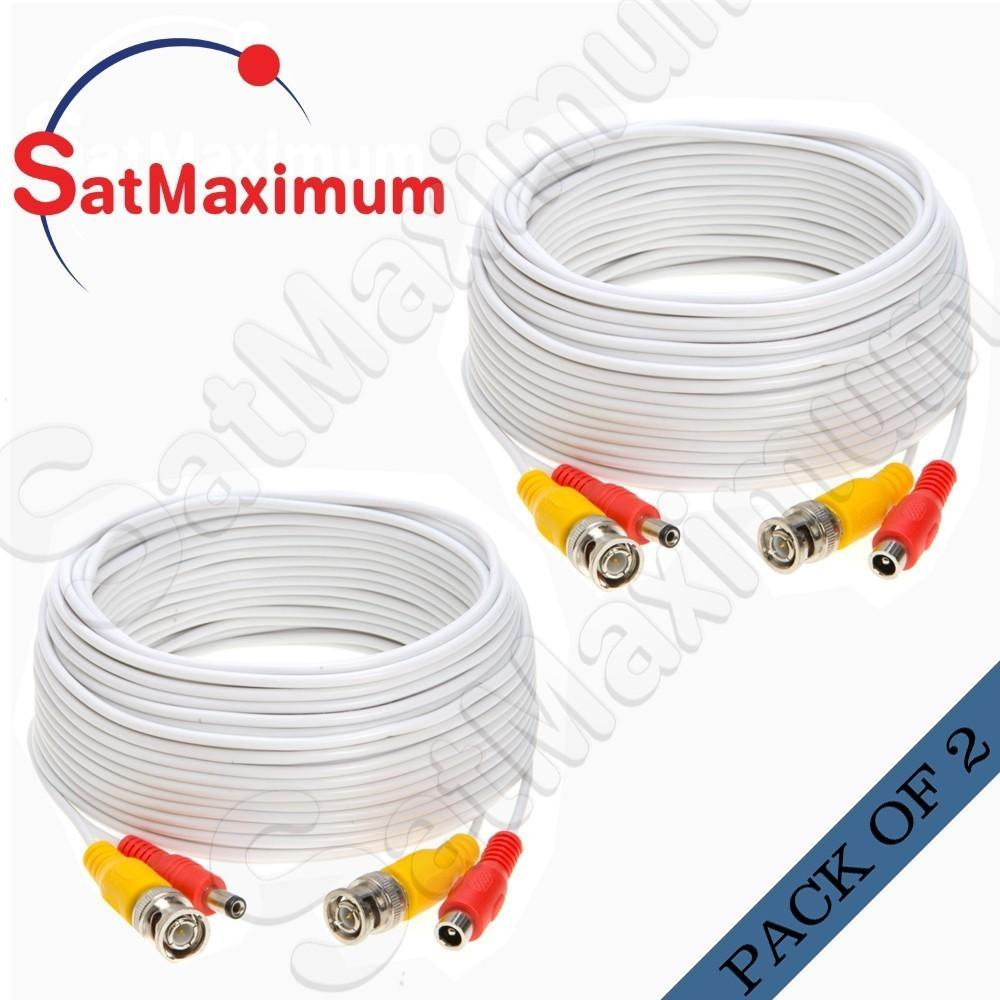 4x 100ft Security Camera BNC Video Power Cable DVR CCTV Surveillance Wire White